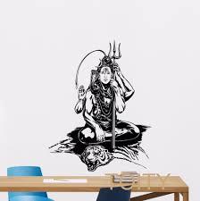 Shiva God Wall Decal Hindu Art Yoga Vinyl Sticker Indian Religion Decor Home Interior Hinduism Mural Wall Decals Vinyl Stickersdecoration Home Aliexpress