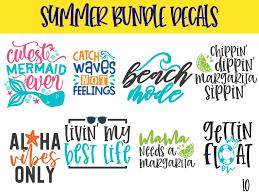 15 Summer Decals Yeti Decal Summer Bundle Summer Yeti Decal Vinyl Decal Beach Decal Summer Sti Summer Decal Vinyl Decal Stickers Custom Wedding Stickers