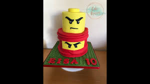 How To Make A Lego/Ninjago Kai Cake - YouTube