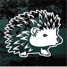 Sweet Hedgehog Car Decals Window Stickers Decal Junky
