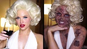zombie marilyn monroe makeup tutorial