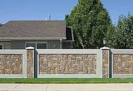 Why Install A Concrete Fence Fence Wall Design House Gate Design Gate Wall Design