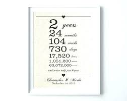 2nd anniversary gifts personalized gift
