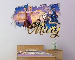 Tangled Wall Decal Etsy