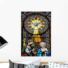 Amazon Com Wallmonkeys Colourful Stained Glass Windows Wall Decal 24 H X 16 W Medium Home Kitchen