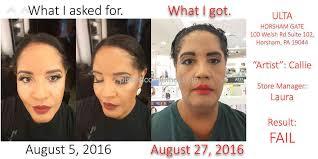 makeup application cost at ulta