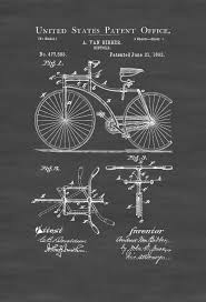 1892 bicycle patent cyclist gift