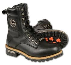 milwaukee motorcycle riding boots lace