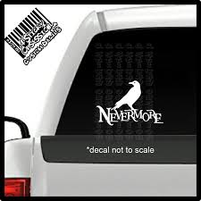 Nevermore Large Raven Poe Custom Decal Sticker A Sticky Obsession