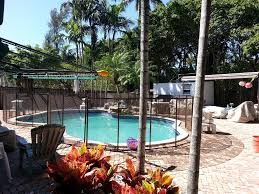 Black Pool Fence In Miami Florida Pool Pool Fence Pool