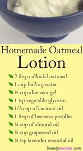 homemade oatmeal lotion beautymunsta