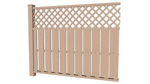 Wood Privacy Fence Lattice 3d Warehouse