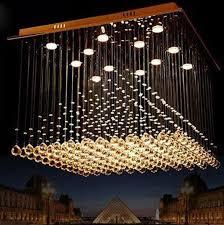 led crystal ceiling light fittings