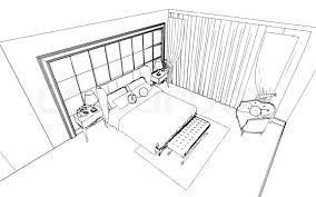 classic bedroom interior designed in