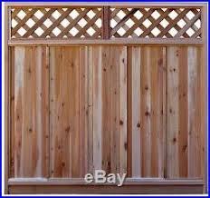 6 H X 6 W Western Red Cedar Diagonal Lattice Top Fence Panel Kit New No Tax Fence Kit New