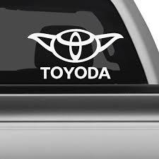 Toyota Yoda Star Wars Car Decal The Decal Guru