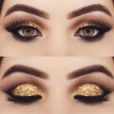 diy makeup tutorials gold eyeshadow