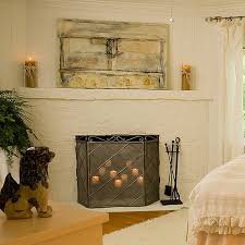 decorating fireplace spring summer