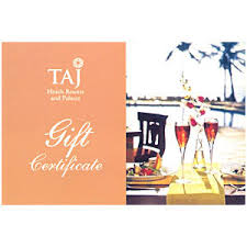 taj hotels gift vouchers to everywhere