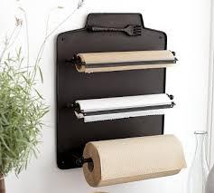 wall mount kitchen roll organizer
