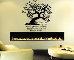 Amazon Com Wall Window Sticker Decal Family Tree Quote Roots Branches Birds Living Room Kids Children Room Decor 1213b Baby