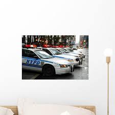Nypd Police Cars Wall Mural Wallmonkeys Com