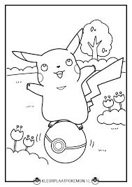 60 Pikachu Kleurplaten Kleurplaat Pokemon