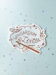 Wingardium Leviosa Spell Sticker Harry Potter Sticker In 2020 Harry Potter Stickers New Sticker Harry Potter Spells