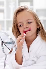 daughter wear makeup