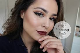 wear makeup with a nose piercing