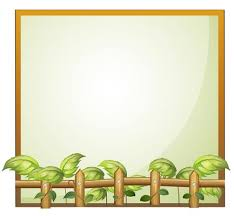 An Empty Frame With A Wooden Fence And Vine Plants Download Free Vectors Clipart Graphics Vector Art