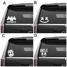 4 Pack Marshmello Vinyl Decals Electroni Buy Online In Antigua And Barbuda At Desertcart