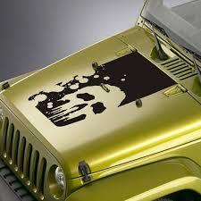 Blackout Hood Decal Sticker For Jeep Wrangler Tj Lj Jk Jku Etsy