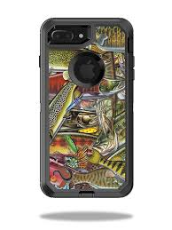 Skin Decal Wrap For Otterbox Defender Iphone 7 Plus Case Fish Puzzle Walmart Com