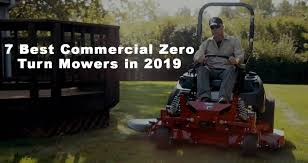 mercial zero turn mowers in 2019