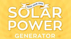 own solar power generator