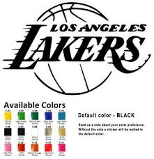 Los Angeles Lakers Vinyl Decal Sticker Car Window Wall Nba La Basketball Design Ebay