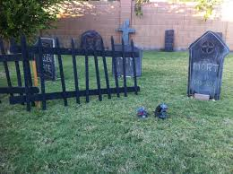 How To Make Halloween Graveyard Fencing And Gravestones Create Whimsy