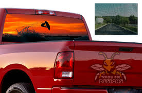 Surfing Perforated Sticker Dodge Ram 3500 Sun Protection Decals