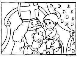 Meisje Op Schoot Bij Sinterklaas Kleurplaat