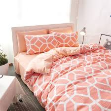 teen girls orange octagon bedding set