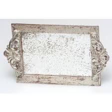 antiqued mirror wood vanity decorative
