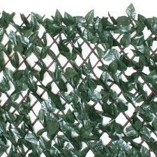 Gardenkraft Gardenkraft Artificial Dark Ivy Expandable Willow Trellis Panel Green Tj Hughes