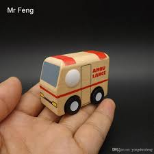 wooden toy mini ambulance vehicle car