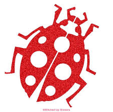 Ladybug Decal Stitched Up Stickers