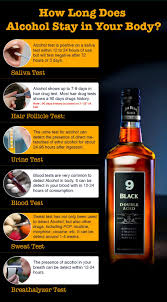 how long does alcohol stay in your
