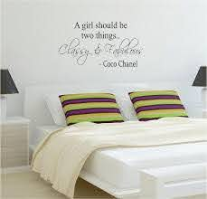 Classy And Fabulous Coco Chanel Quote Decal Sticker Wall Vinyl Decor A Boop Decals