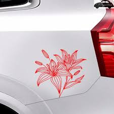 Flower Lily Sticker Car Decal Posters Vinyl Wall Decals Decor Mural Sticker Sticker Car Decal Sticker Carcar Decal Aliexpress