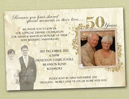 Wedding Anniversary Invitation With Photos 50th Golden You