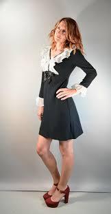 60s Mod Dress// Wendy Adams Dress// Tuxedo Style 60s Dress// | Etsy